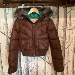 Abercrombie   Girls Puffer Bomber Jacket - Large